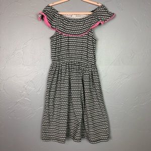 🐢Carter's white, black and pink dress size 3T